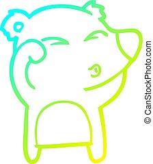yeux, fatigué, gradient, frottement, ligne, ours, dessin, froid, dessin animé