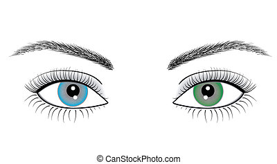 yeux, femme, illustration