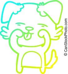 yeux, gradient, frottement, ligne, chien, dessin, froid, dessin animé