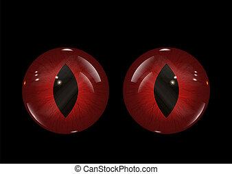 yeux, halloween, mal, fond, 1409