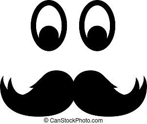 yeux, moustache