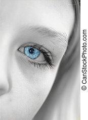 yeux, perçant