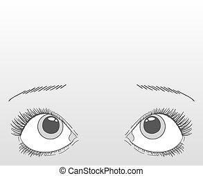 yeux, recherche