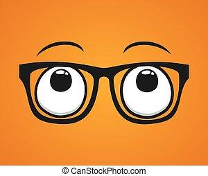 yeux, recherche, lunettes