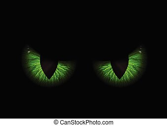 yeux, vert, mal, fond, 1409