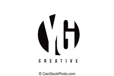 YG Y G White Letter Logo Design with Circle Background. - YG...