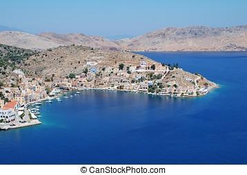 Yialos harbour, Symi island