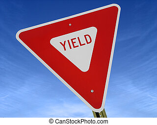 Yield Sign Tilted