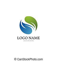 yin, アイコン, ロゴ, ベクトル, yang, テンプレート