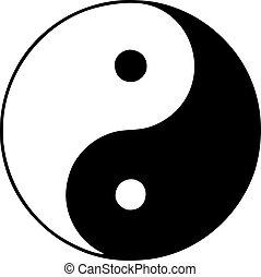 yin, シンボル, yan