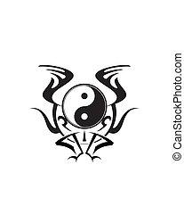 yin, デザイン, yang