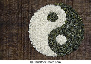 yin, 作られた, yang, 種