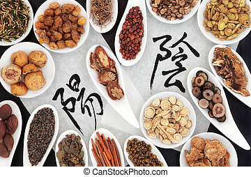 Yin and Yang Herbs - Chinese herbal medicine selection with ...