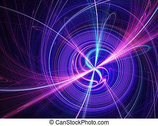 Yin and Yang spiral wheel on dark background