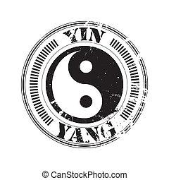 yin and yang stamp