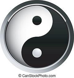 yin and yang, - taoist web button