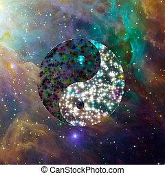 yin, celestiale, yang