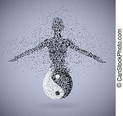 Yin (feminine) - Symbol of yin and yang, showing feminine...