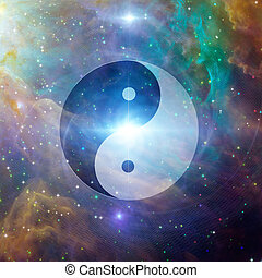 yin, himmlisch, yang
