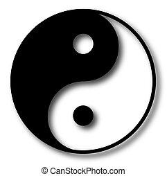 yin, illustration, vecteur, yang