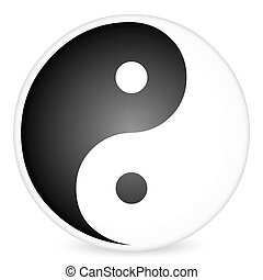 yin-yang, 2, símbolo