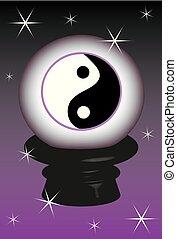 Yin yang background