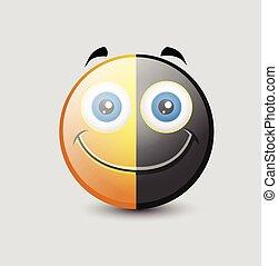 Yin Yang Comic Emoji Character