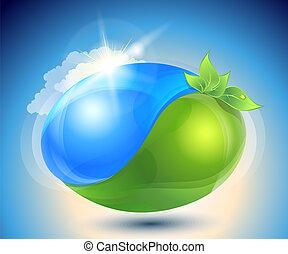 yin-yang, eco-icon, naturaleza