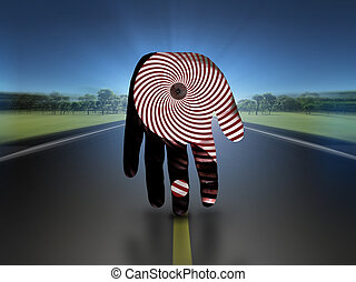 yin yang, hand