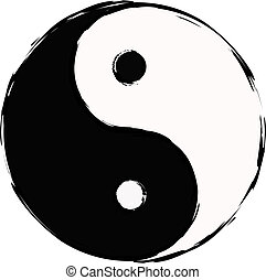 yin yang, taoistic symbol of harmony and balanc