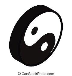Yin yang isometric 3d icon