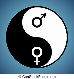 Yin Yang Man and Woman