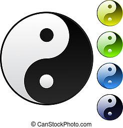 yin-yang, símbolo, plano de fondo
