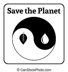 yin yang sign eco