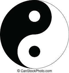 Yin Yang sign isolated on white