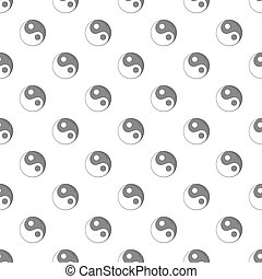 Yin yang sign pattern, cartoon style