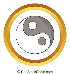 Yin Yang sign vector icon
