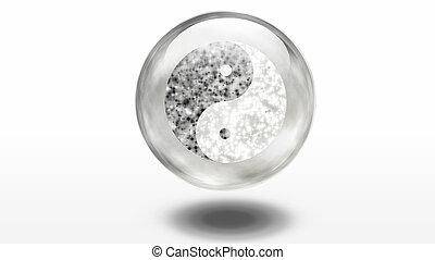 Yin Yang Symbol composed of stars