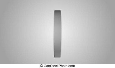 Yin Yang symbol rotates on a gray background. Seamless...