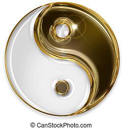 yin yang symbol isolated on white background