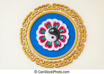 Yin Yang symbol on the wall