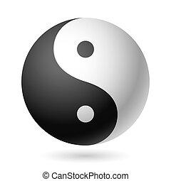 Yin Yang symbol - Vector illustration