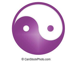 yin yang symbol - yin yang tao symbol - computer generated