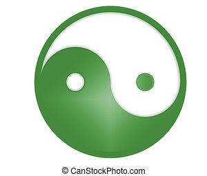 yin yang symbool