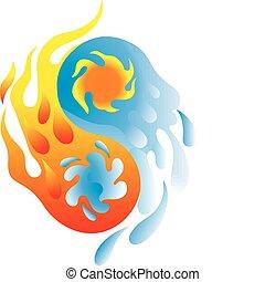yin yang - Yin and Yang - Fire and Water