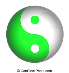 yin yang - Yin and Yang symbol on a glossy ball