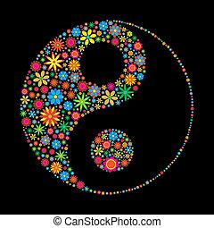ying, fleur, yang