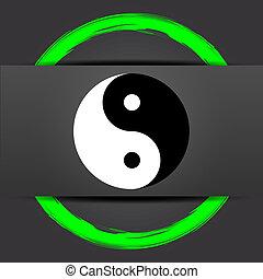ying, icona, yang