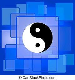 ying, icono, yang