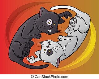 ying, katzenkinder, yang